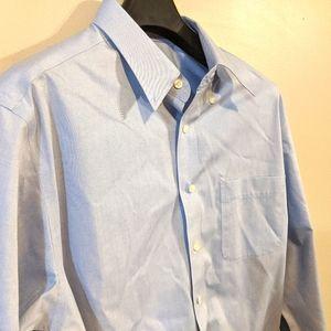 ☀️4/$30☀️ Eddie Bauer Tall Blue Dress Shirt
